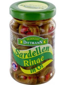 Feinkost Dittmann Sardellenringe in Öl  (100 g) - 4002239274005