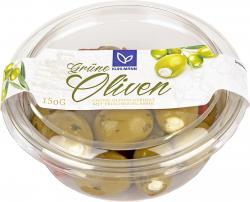 Kühlmann Grüne Oliven gefüllt mit Frischkäsecreme  (150 g) - 4002268094308