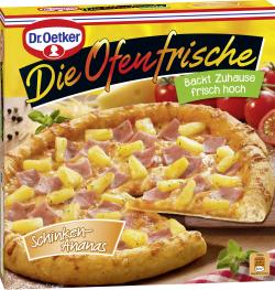 Dr. Oetker Die Ofenfrische Pizza Schinken-Ananas  (410 g) - 4001724011200