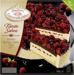 Coppenrath & Wiese Feinste Sahne Himbeer-Bourbon-Vanille-Torte  (1,80 kg) - 4008577000436