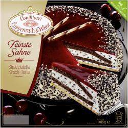 Coppenrath & Wiese Feinste Sahne Stracciatella Kirsch-Torte  (1,40 kg) - 4008577004434