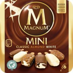 Magnum Mini Mix (Classic, Weiss, Mandel) Familienpackung Eis  (6 St.) - 8000920580806