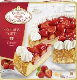 Coppenrath & Wiese Festtagstorte Erdbeer  (1,40 kg) - 4008577004199