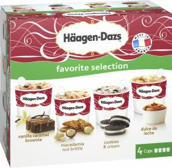 Häagen-Dazs Eiscreme Favorite Selection  (4 x 100 ml) - 3415581571004