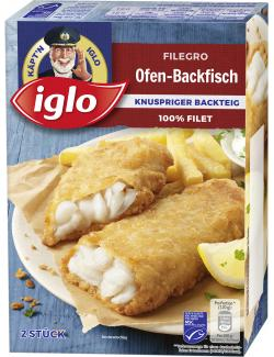 Iglo Filegro Traditioneller Ofen-Backfisch  (240 g) - 4250241203425