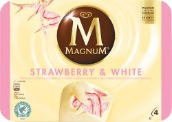 Magnum Strawberry White Familienpackung Eis  (4 St.) - 8722700054375