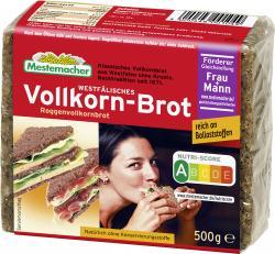 Mestemacher Echt westfälisches Vollkorn-Brot  (500 g) - 4000446001049