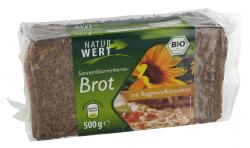 NaturWert Bio Sonnenblumenkernebrot  (500 g) - 4000446030643