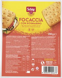 Schär Focaccia Rosmarin  (200 g) - 8008698004678