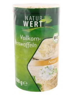 NaturWert Bio Vollkorn-Reiswaffeln natur  (100 g) - 4250780309251