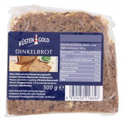 Küstengold Dinkelbrot  (500 g) - 4250426216646