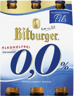 Bitburger 0,0% Pils alkoholfrei  (6 x 0,33 l) - 4102430312411