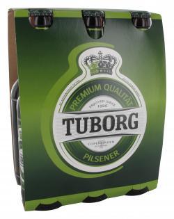 Tuborg Pilsener  (6 x 0,33 l) - 5740700080036