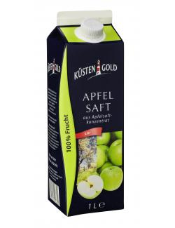 Küstengold Apfelsaft aus Apfelsaftkonzentrat klar  (1 l) - 4250426206692