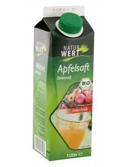 NaturWert Bio Apfelsaft naturtrüb  (1 l) - 4105550242101