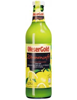 Wesergold Zitronensaft  (750 ml) - 4100060003419