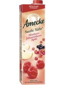 Amecke Sanfte Säfte Himbeer-Johannisbeer-Apfel  (1 l) - 4005517004110