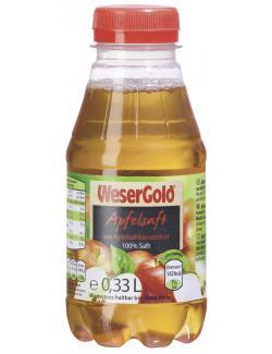 Wesergold Apfelsaft Einzelflasche  (330 ml) - 4100060001118