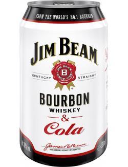 Jim Beam Bourbon Whiskey & Cola  (330 ml) - 5060045580986