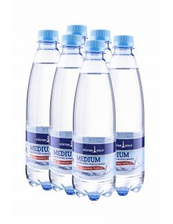 Küstengold Mineralwasser medium  (6 x 0,50 l) - 2000424153335