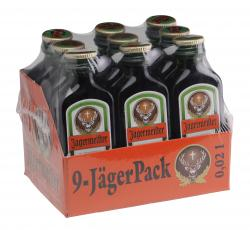 Jägermeister 9-JägerPack  (9 x 0,02 l) - 4067700091208