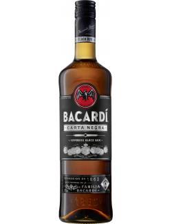 Bacardi Carta Negra black Rum  (700 ml) - 4013400509123