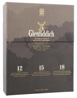 Glenfiddich Single Malt Scotch Whisky  (3 x 0,20 l) - 5010327098104