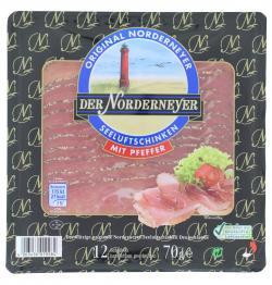 Der Norderneyer Seeluftschinken mit Pfeffer  (70 g) - 4003436019284