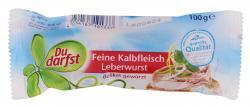 Du darfst Kalbsfleisch Leberwurst  (100 g) - 4034167101337