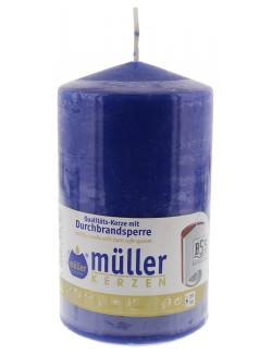 Müller-Kerzen Stumpenkerze indigo  (1 St.) - 4009078046107