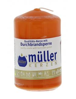 Müller-Kerzen Stumpenkerze mandarin  (1 St.) - 4009078495707