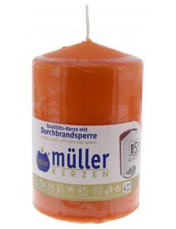 Müller-Kerzen Stumpenkerze mandarin  - 4009078495660