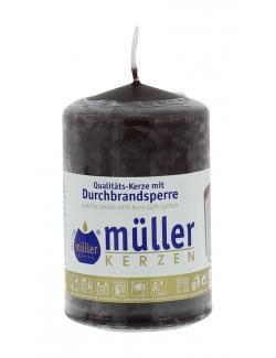 Müller-Kerzen Stumpenkerze schokobraun  (1 St.) - 4009078847346