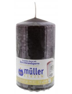 Müller-Kerzen Stumpenkerze schokobraun  (1 St.) - 4009078847360