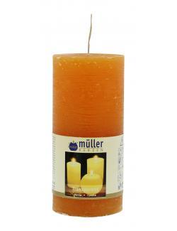 Müller-Kerzen Stumpenkerze transparent mandarin  (1 St.) - 4009078631808