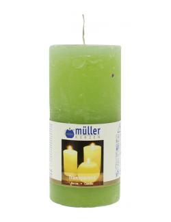 Müller-Kerzen Stumpenkerze maigrün  (1 St.) - 4009078860802
