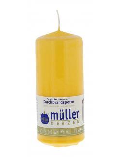 Müller-Kerzen Stumpenkerze goldgelb  (1 St.) - 4009078252935