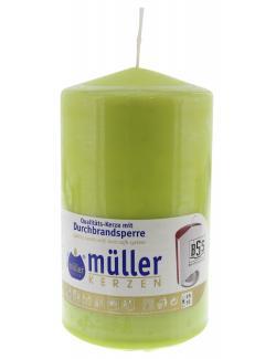 Müller-Kerzen Stumpenkerze maigrün  (1 St.) - 4009078736374