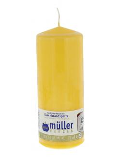 Müller-Kerzen Stumpenkerze goldgelb  (1 St.) - 4009078272957