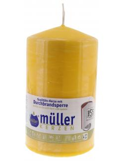 Müller-Kerzen Stumpenkerze goldgelb  (1 St.) - 4009078262521
