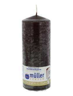 Müller-Kerzen Stumpenkerze schokobraun  (1 St.) - 4009078253239