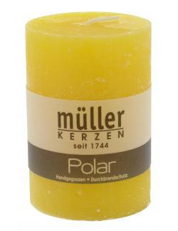 Müller-Kerzen Polar Stumpenkerze  gelb  (1 St.) - 4009078631891