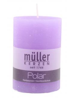 Müller-Kerzen Polar Stumpenkerze flieder  (1 St.) - 4009078221467