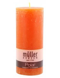 Müller-Kerzen Polar Stumpenkerze mandarin  (1 St.) - 4009078860871