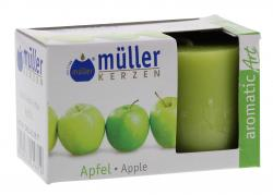 Müller-Kerzen Duft-Votivlicht aromaticArt Apfel  (2 St.) - 4009078249812