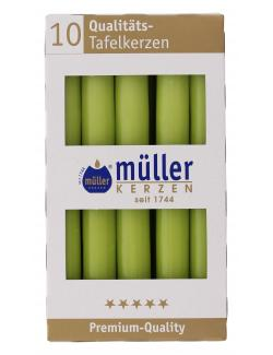Müller-Kerzen Tafelkerze maigrün  (1 St.) - 4009078317214