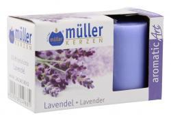 Müller-Kerzen Duft-Votivlichte aromaticArt Lavendel  (2 St.) - 4009078249881