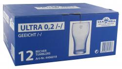 Van Well Ultra Becher aus Glas 0,2 Liter  - 726502171436