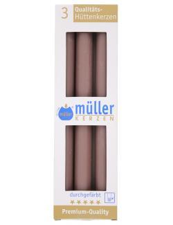 Müller-Kerzen Hüttenkerzen kaschmir  (3 St.) - 4009078503907