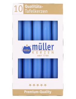 Müller-Kerzen Tafelkerze delft  (10 St.) - 4009078503990